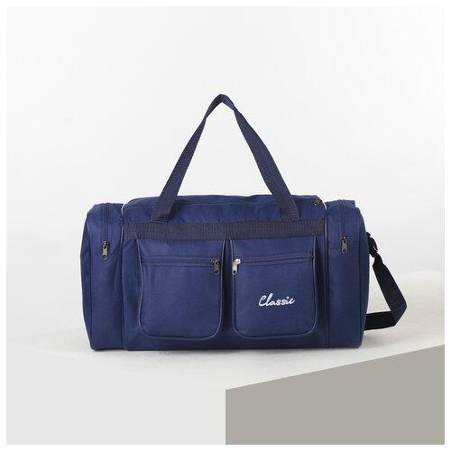 Фото - Сумка спортивная AMeN отдел на молнии, 4 наружных кармана, длинный ремень, синий amen мокасины