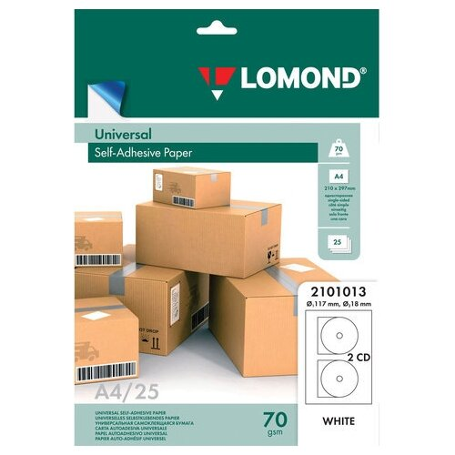 Фото - Этикетка самоклеящаяся LOMOND для CD, на листе формата А4, 2 этикетки, диаметр 117/18 мм, белая, 25 л., 2101013 запарник для бани липа 12 л