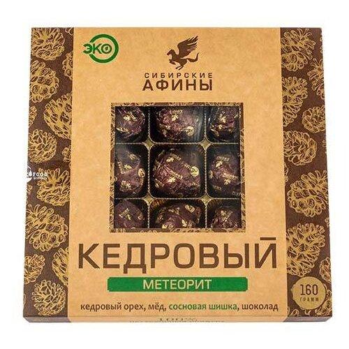 Набор конфет Сибирские Афины Кедровый Метеорит с сосновой шишкой, 160 г
