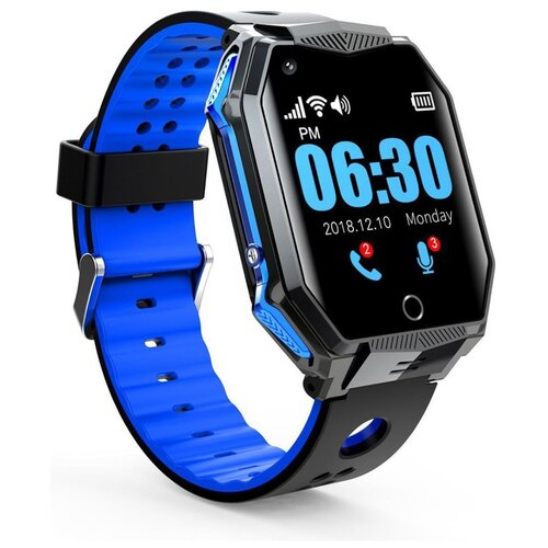 Часы-телефон GPS с видеозвонком Smart Baby Watch FA68 (синий) / аудиомониторинг / удаленная камера / поддержка 4G / виброзвонок / будильник / кнопка SOS / прямой набор с блокировкой / обмен сообщениями / видеочат / влагозащита IP67 / сенсорный экран