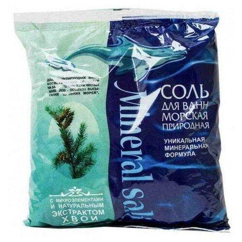 ГринПром Соль морская природная с экстрактом хвои, 1 кг