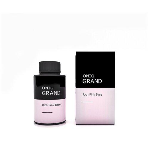 ONIQ базовое покрытие Retouch GRAND Base 30 мл Rich pink oniq базовое покрытие grand 900 standart base 30 мл прозрачный