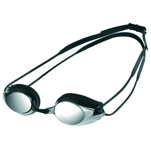 Фото - Очки для плавания arena Tracks Mirror 92370, black/smoke silver/black очки для плавания arena zoom neoprene 92279 black clear black