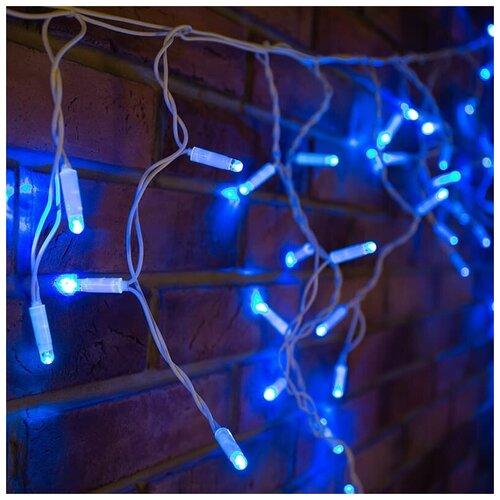 Фото - Гирлянда NEON-NIGHT 255-033-6, 76 ламп, синий/белый провод светодиодная уличная гирлянда бахрома neon night синего свечения 2 4х0 6 м 76 led