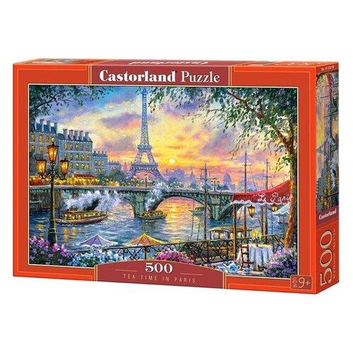 Пазл Castorland Tea time in Paris (B-53018), 500 дет. пазл castorland pup in pink flowers b 52233 500 дет