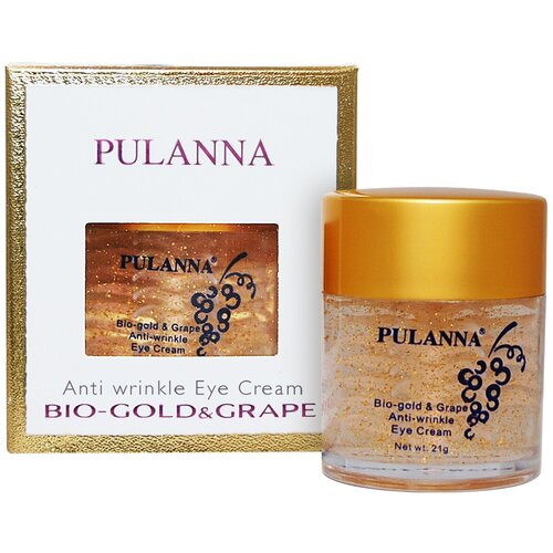Купить PULANNA Омолаживающий крем для век Bio-gold & Grape Anti-wrinkle Eye Cream, 21 г