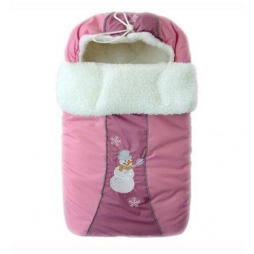 Фото - Конверт Золотой гусь меховой Снежинка (розовый) сумка прикроватная золотой гусь пеленки трехслойная арт 3002