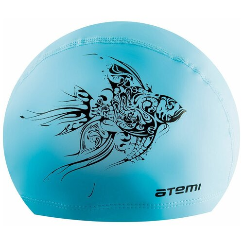 Шапочка для плавания ATEMI PU 302, голубой по цене 230