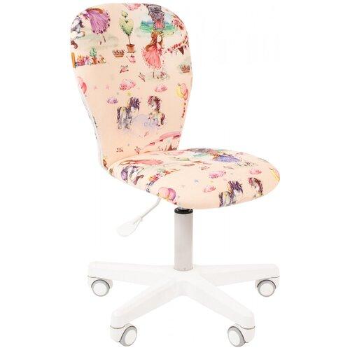Фото - Компьютерное кресло Chairman Kids 105 детское, обивка: текстиль, цвет: принцессы компьютерное кресло chairman kids 101 детское обивка текстиль цвет монстры