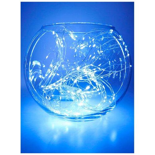 Гирлянда Feron Нить CL53 200 см, 200 ламп, теплый белый/прозрачный провод гирлянда feron нить cl34 1000 см 100 ламп теплый белый черный провод