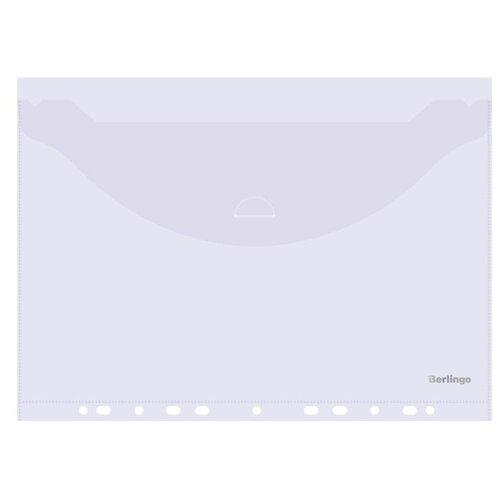 Купить Berlingo Папка-конверт с перфорацией с клапаном А4, пластик, 10 шт. прозрачный, Файлы и папки