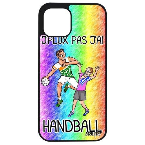 """Чехол для смартфона iPhone 12 mini, """"Не могу - у меня гандбол!"""" Комикс Игра"""