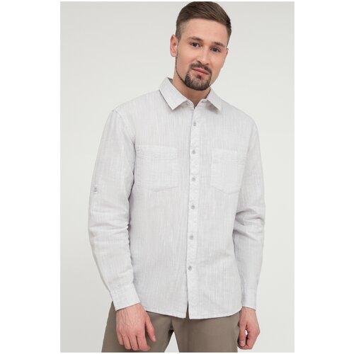 Рубашка FiNN FLARE размер 3XL светло-серый (211)