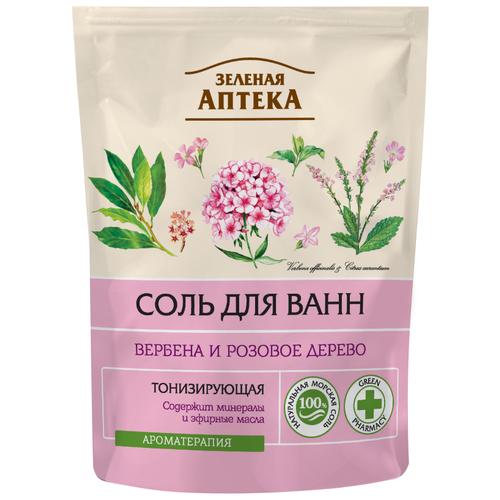 Зелёная Аптека Соль для ванн Вербена и розовое дерево, 500 г