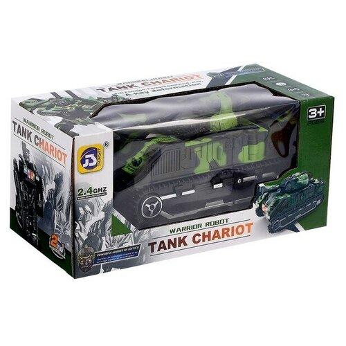 Робот-трансформер Junsheng Tank Chariot, зеленый/черный