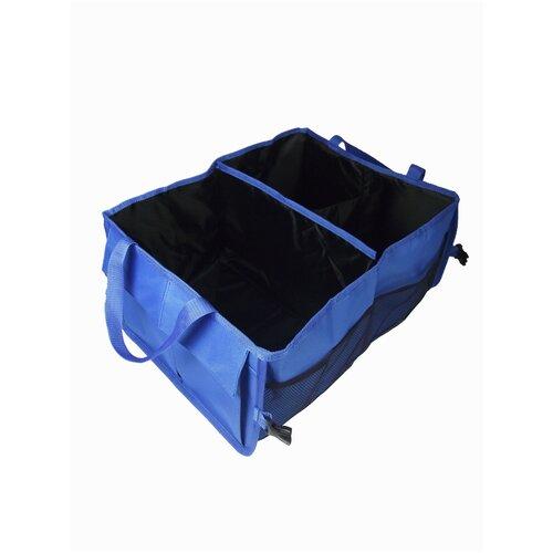 Органайзер для автомобиля в багажник мелкий синий