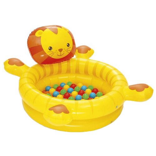 Детский бассейн Bestway Lion Ball Pit 52261 желтый детский бассейн bestway ball pit play pool 51141 голубой