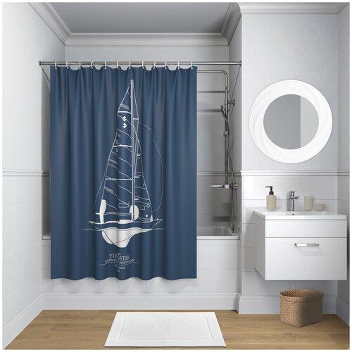Фото - Штора для ванной IDDIS B32P218i11 180x200 темно-синий штора для ванной iddis 680p18ri11 180x200 зеленый черный