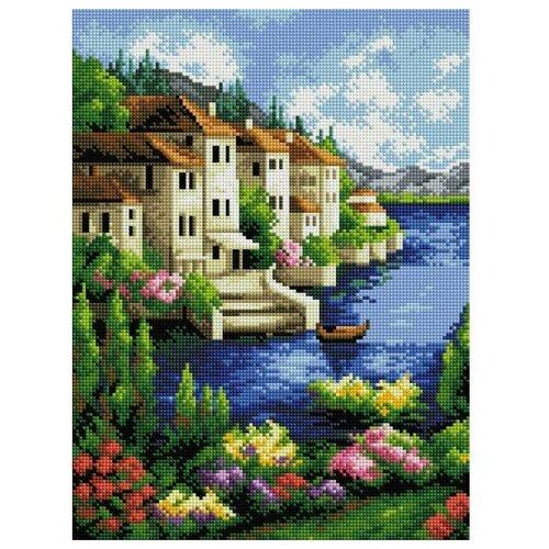 Мозаичная картина Городок на берегу