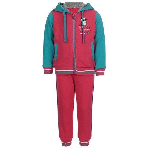 Купить 5O8SU00 Спортивный костюм д/дев. Элиз 1.5 года размер 86-52 цвет бирюзовый_малиновый, Oldos, Спортивные костюмы