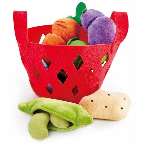 Набор продуктов с посудой Hape Toddler Vegetable Basket E3167 красный
