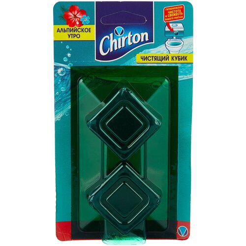 Фото - Chirton кубик для унитаза Альпийское утро, 2 шт. чистящий кубик для унитаза chirton альпийская долина 3x50 г