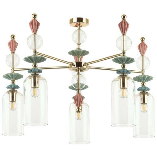 Люстра потолочная ODEON LIGHT EXCLUSIVE BIZET 4855/5C E14 5*40W K Лм люстра потолочная j light mali 1123 5c e27 5 60w белый золото прозрачный
