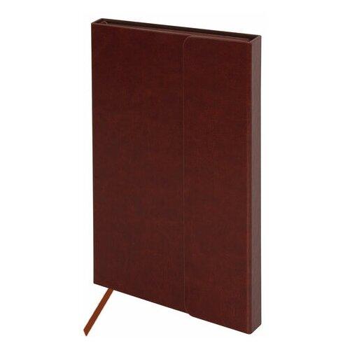 Купить Ежедневник недатированный А5 (148х218 мм), GALANT Magnetic , 160 л, кожзам, магнитный клапан, коричневый, 111880, Ежедневники, записные книжки