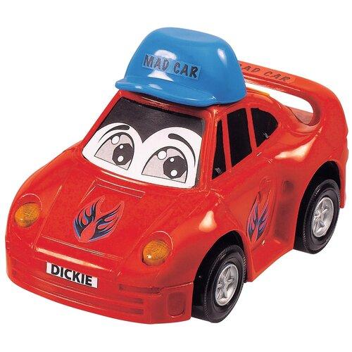 dickie toys машинка трансформер боевой трейлер optimus prime Легковой автомобиль Dickie Toys Веселая машинка (3313007), 12 см, красный