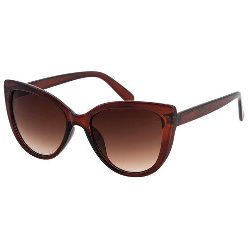 Солнцезащитные очки женские/Очки солнцезащитные женские/Солнечные очки женские/Очки солнечные женские/21kdglan905328c2vr коричневый/Vittorio Richi/Кошачий глаз/модные