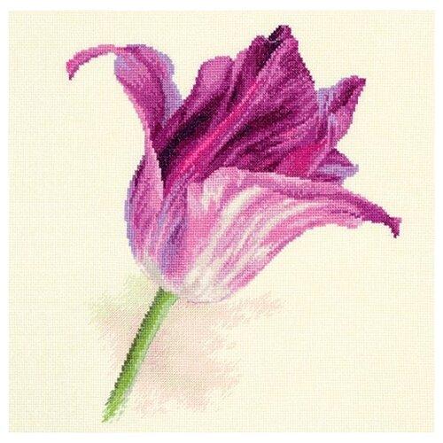 Фото - Набор для вышивания крестиком Алиса Тюльпаны, Сиреневый бархат, 22*26 см (2-44) алиса набор для вышивания тюльпаны малиновое сияние 22 x 26 см 2 43