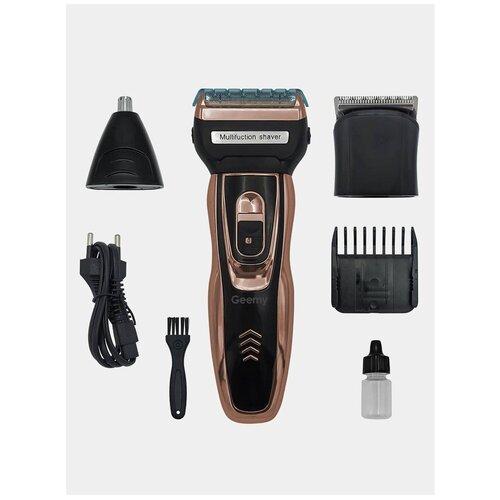 Машинка для стрижки Cronier , 3 в 1, Триммер для стрижки бороды, Насадки для стрижки волос в носу, ушах, бороды