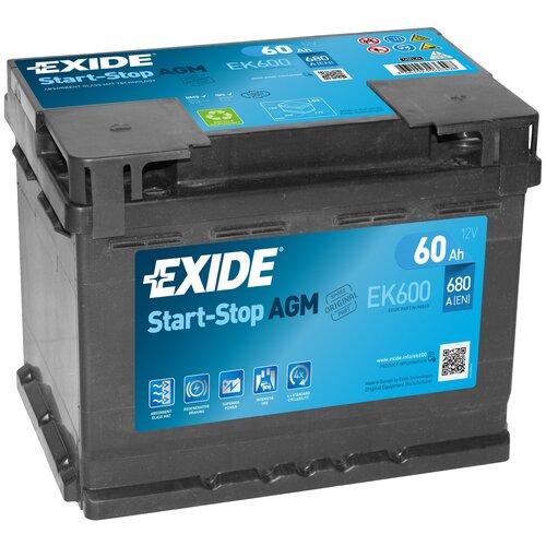 Автомобильный аккумулятор Exide Start-Stop AGM EK600