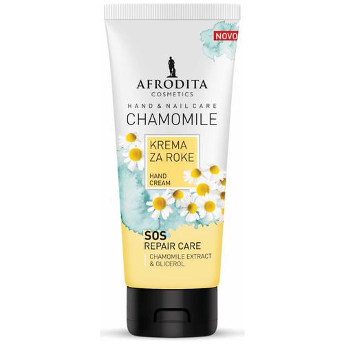 Крем для рук и ногтей защитный с ромашкой Chamomile, Afrodita Cosmetics, Словения, 100мл