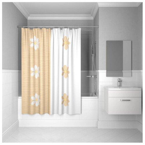 Фото - Штора для ванной IDDIS SCID042P 180x200 белый/оранжевый штора для ванной iddis 680p18ri11 180x200 зеленый черный