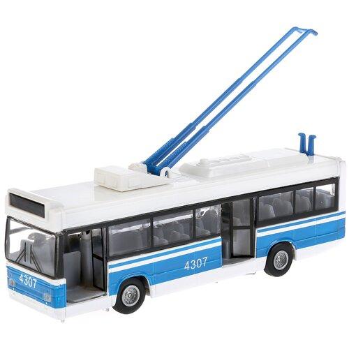 Купить Троллейбус ТЕХНОПАРК СТ12-434, 18 см, синий/белый, Машинки и техника
