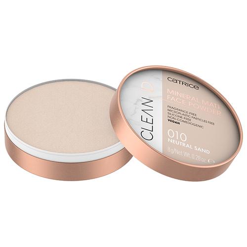 CATRICE Clean ID Mineral Matt Face Powder 010 neutral sand недорого
