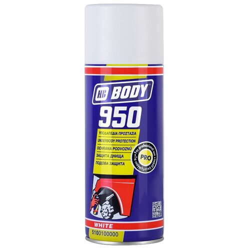 Жидкий антигравий HB BODY 950 белый 0.4 л баллончик