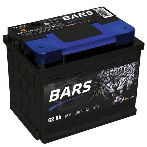Автомобильный аккумулятор BARS 6СТ-62 АПЗ о.п.