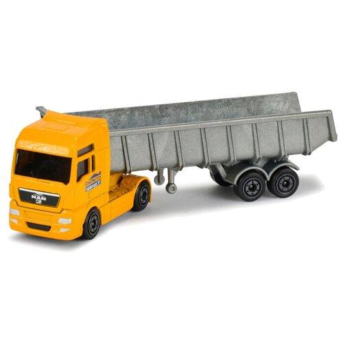 Купить Набор техники Majorette Construction Theme Set (2057971), желтый/серый/белый, Машинки и техника