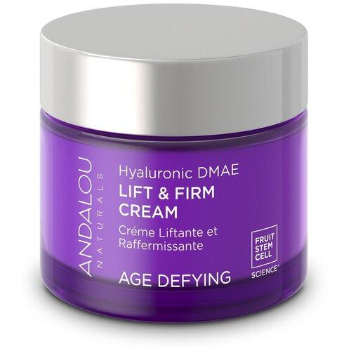 Купить Andalou Naturals Age Defying Hyaluronic DMAE Lift & Firm Cream Лифтинг-крем для лица, 50 г