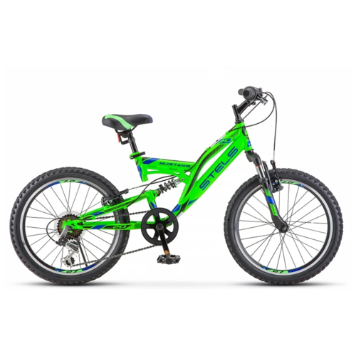 Подростковый горный (MTB) велосипед Stels Mustang V 20 V010 (2019) 13 зеленый (требует финальной сборки) велосипед stels 2612 v