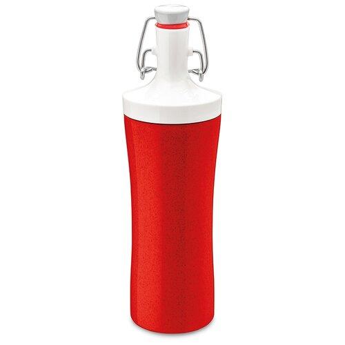 Фото - Бутылка для воды Koziol Plopp to go Organic 425 мл, красная (3796676) бутылка для воды koziol plopp to go organic 0 42 пластик синий