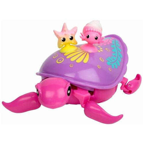 Купить Робот Moose Little Live Pets Черепашка и друзья Шелби 28562 фиолетовый/розовый, Роботы и трансформеры