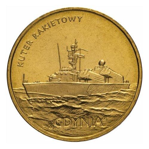 Монета Банк Польши Польские суда - Ракетный катер Гдыня, 2 злотых 2013 года