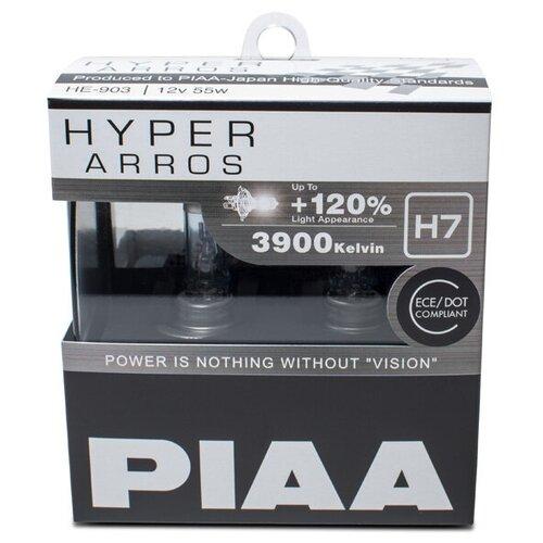 Лампа автомобильная галогенная PIAA Hyper Arros (HE-903-H7) H7 12V 55W 2 шт.