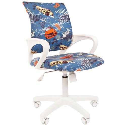 Фото - Компьютерное кресло Chairman Kids 103 детское, обивка: текстиль, цвет: машинки компьютерное кресло chairman kids 101 детское обивка текстиль цвет монстры