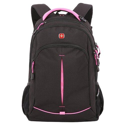 Фото - Рюкзак SWISSGEAR, черный/фуксия, фьюжн/2 мм рипстоп, 32x15x46 см, 22 л рюкзак swissgear 32x15x46 см 22 л черный