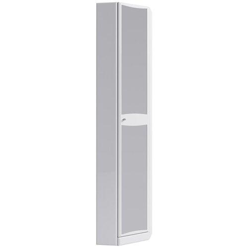 Фото - Шкаф-пенал, белый, с зеркалом, угловой, Aqwella Барселона Ba.05.45/L пенал с двумя ящиками белый глянец aqwella barcelona ba 05 13