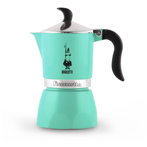 Кофеварка гейзерная Bialetti Fiametta GREEN на 3 чашки